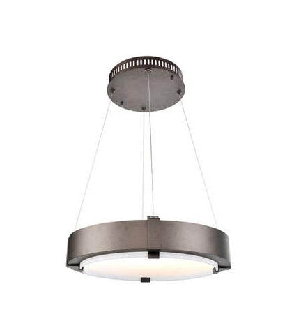 Halo 19 Inch LED Bronze Ring Pendant Ceiling Kalco