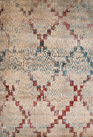 Jules Diamonds Distressed Colors Rug  - 5 Sizes Available