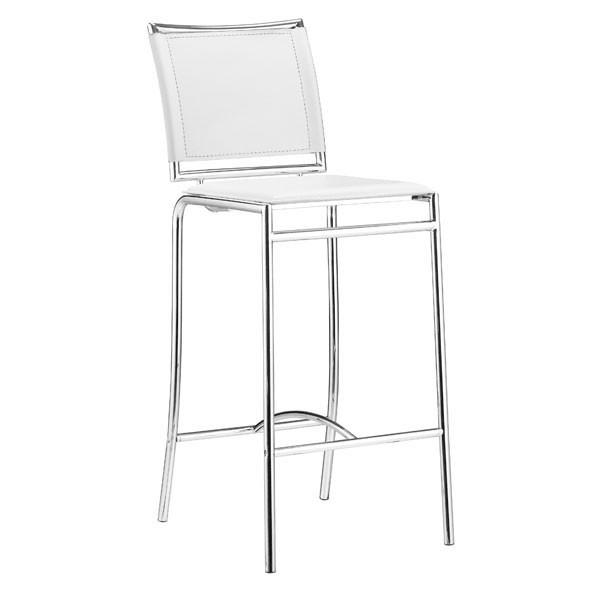 Soar Bar Chair White (Set of 2) Furniture Zuo