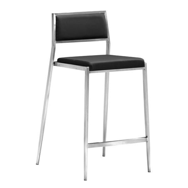 Dolemite Counter Chair Black (Set of 2) Furniture Zuo