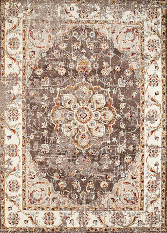 Bridges Ponte Vecchio Taupe Rug  - 5 Sizes Available