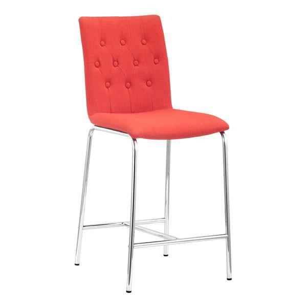 Uppsala Counter Chair Tangerine (Set of 2) Furniture Zuo