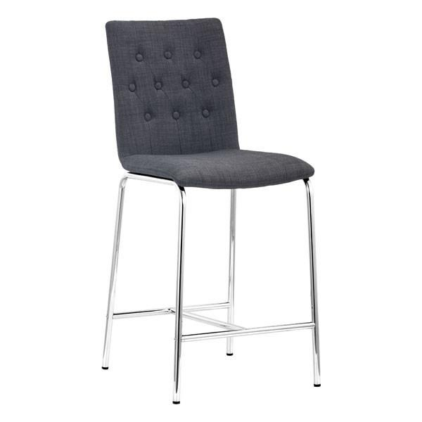 Uppsala Counter Chair Graphite (Set of 2) Furniture Zuo