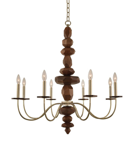 Lassen 8 Light Chandelier Ceiling Kalco