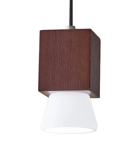 "Burlington 2.5""w LED Woodgrain Mini Pendant"