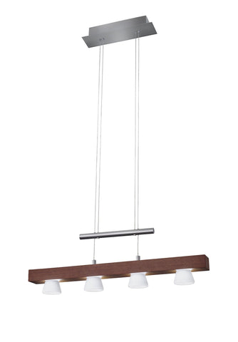 "Burlington LED 24""w Linear 4 Light Pendant Ceiling Adesso Walnut"
