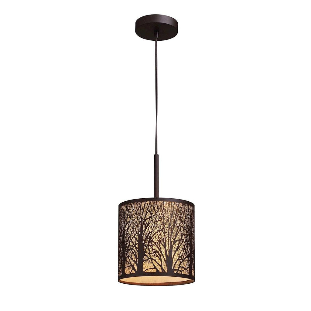 Woodland Sunrise Pendant In Aged Bronze Ceiling Elk Lighting