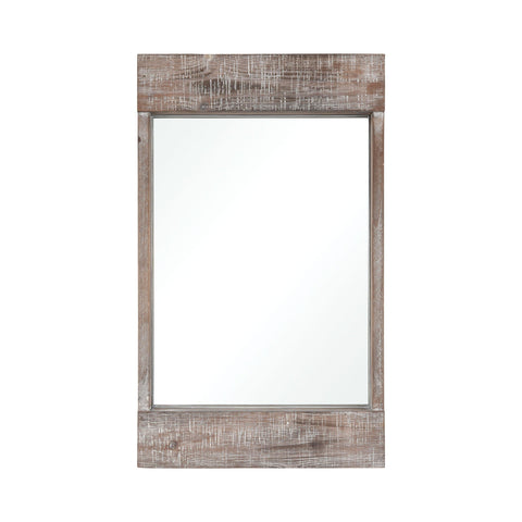 Dunluce Mirror in Natural Fir Wood with White Antique