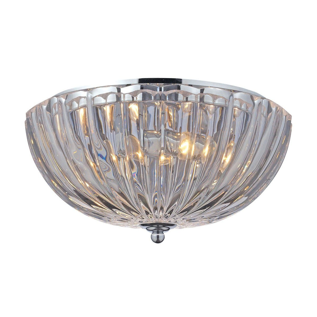Crystal Flushmounts 2 Light Flushmount In Polished Chrome Flush Mount Elk Lighting
