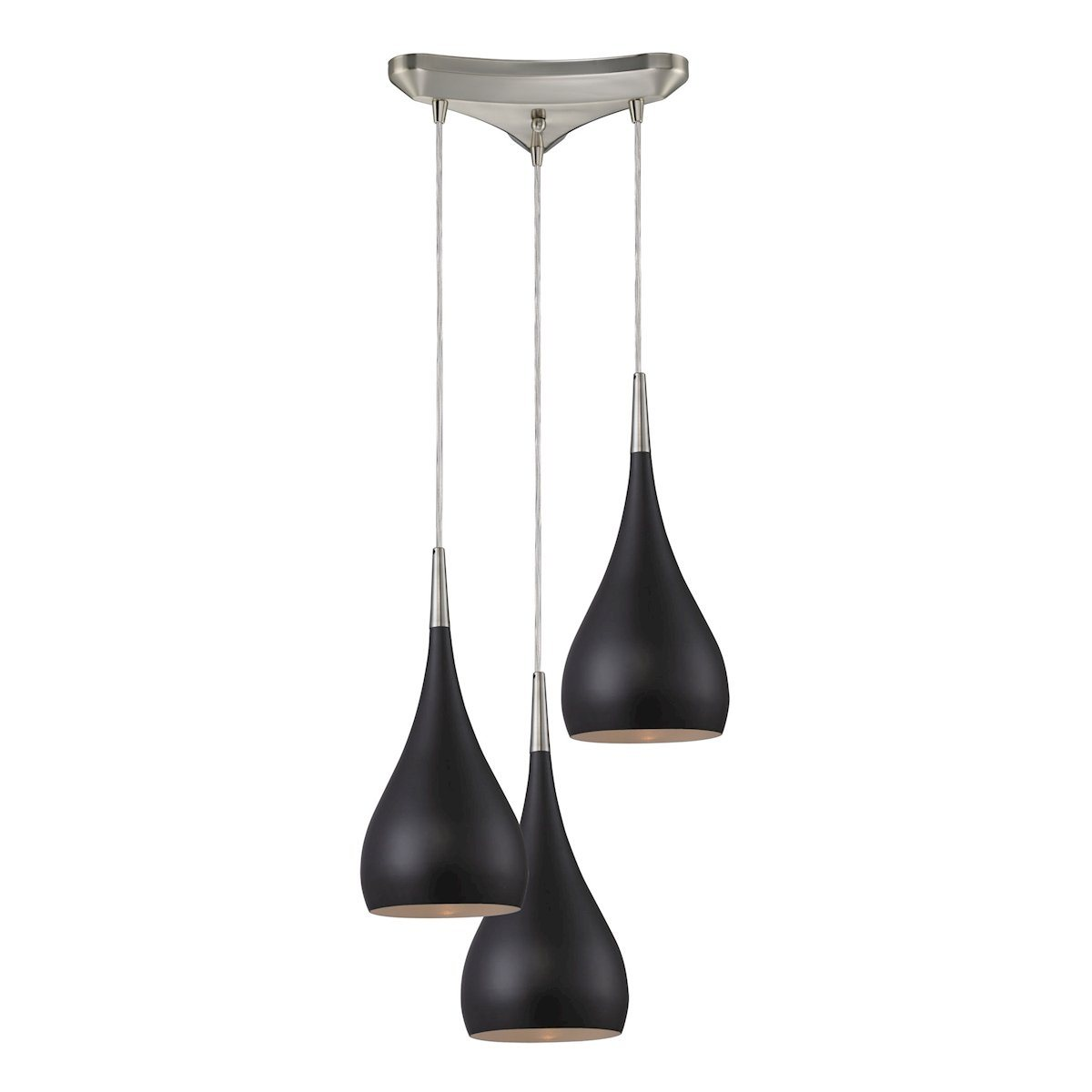 Lindsey 3 Light Pendant In Oiled Bronze And Satin Nickel Ceiling Elk Lighting