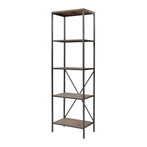 Whitepark Bay Bookshelf in Galvanized Steel and Natural Wood