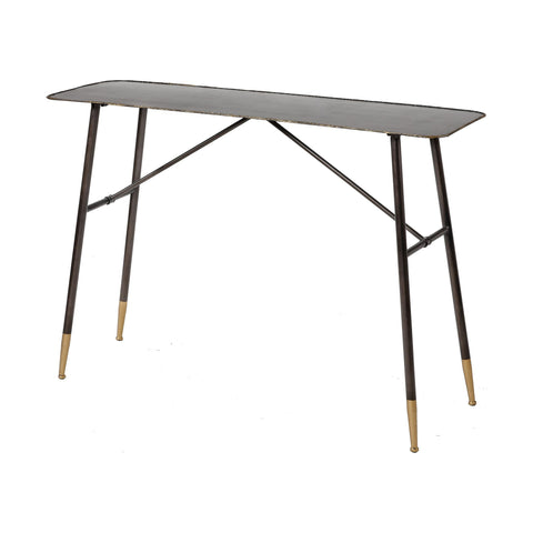 Christian Console Table in Oil Rubbed Bronze and Gold