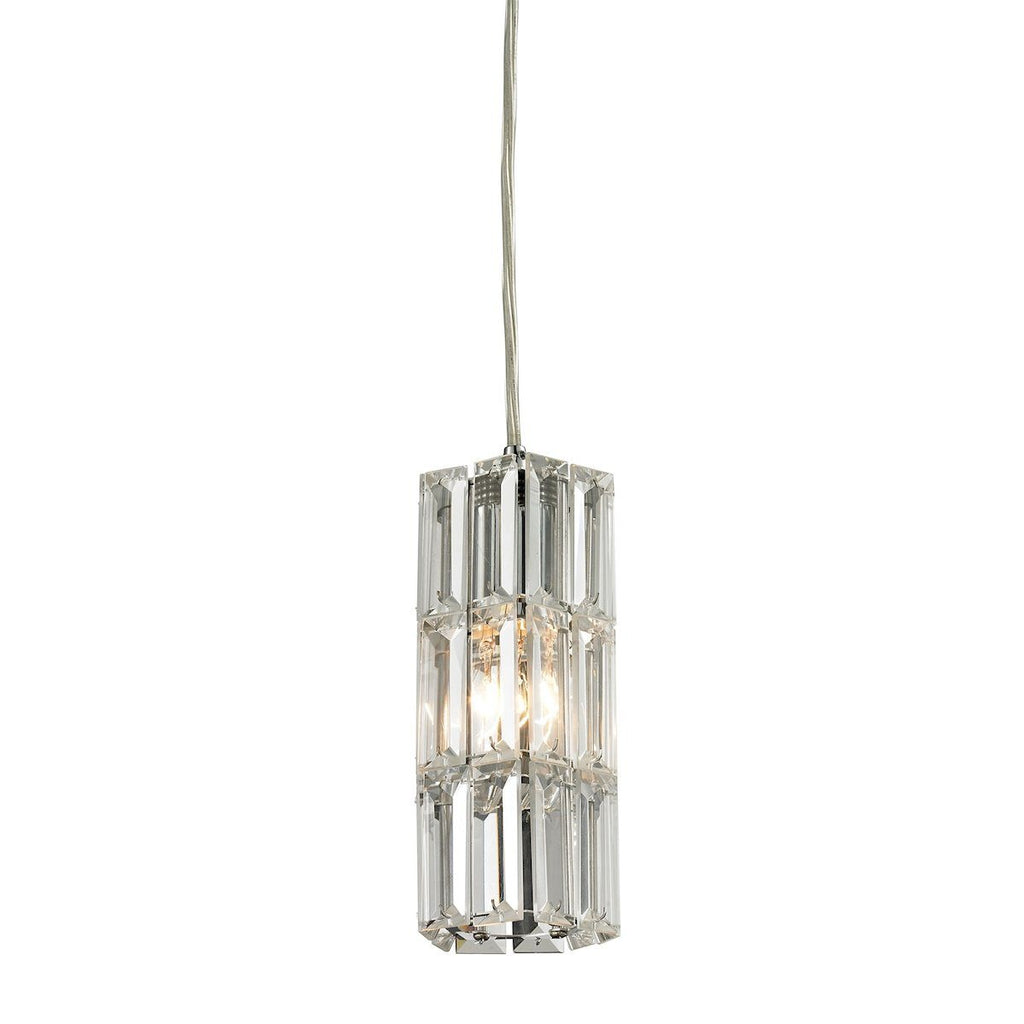 Cynthia Pendant In Polished Chrome And Clear K9 Crystal Ceiling Elk Lighting