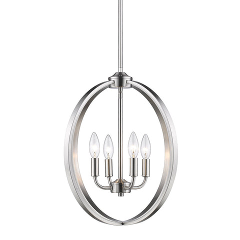 "Colson Pewter 16""w Pendant Chandelier"
