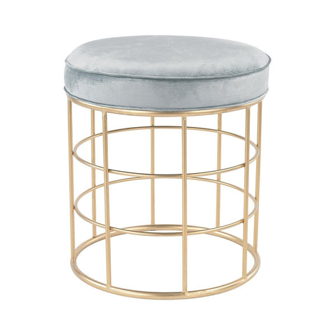 Beverly Glen Accent Stool Furniture Sterling