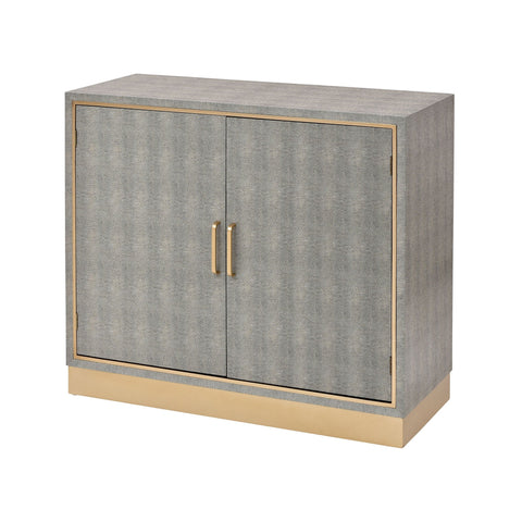 Sands Point 2-Door Cabinet in Grey and Gold