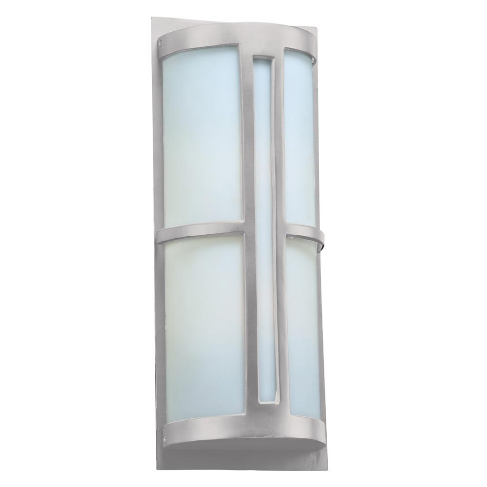 "Rox 22""h Outdoor Wall Fixture - Silver Outdoor PLC Lighting"