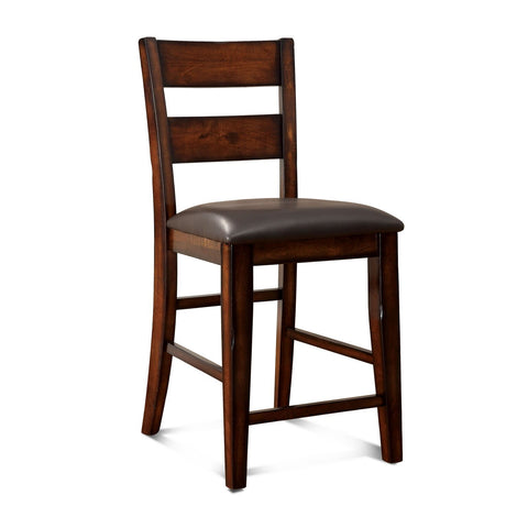 Ohare Leatherette Dining Chair Dark Cherry (Set of 2)