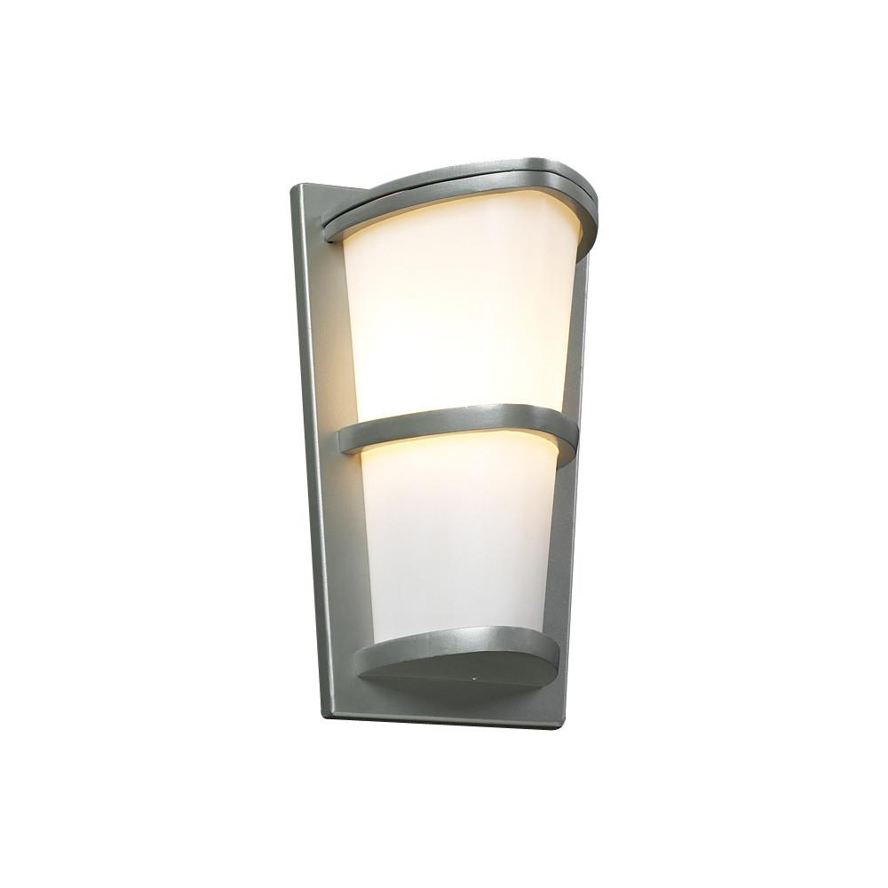 "Alegria 13""h Outdoor Wall Fixture - Silver Outdoor PLC Lighting"