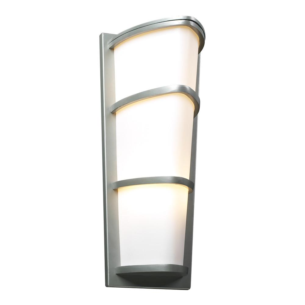 "Alegria 22""h Outdoor Wall Fixture - Silver Outdoor PLC Lighting"