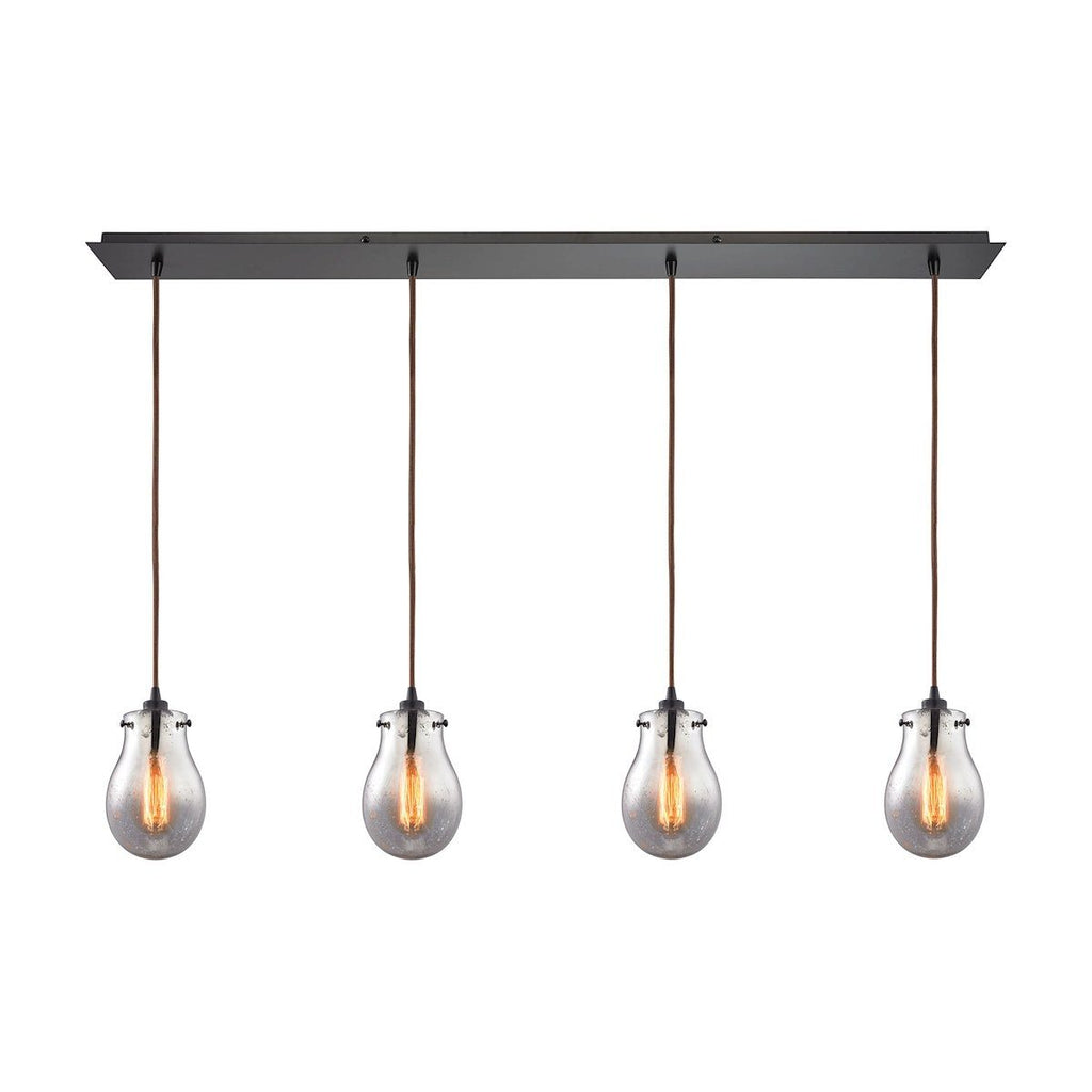 Jaelyn 4 Light Pendant In Oil Rubbed Bronze Ceiling Elk Lighting
