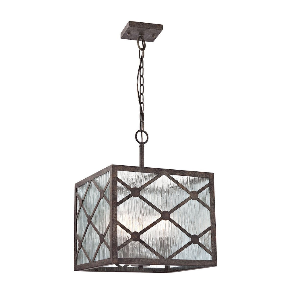Radley 3 Light Pendant In Malted Rust Ceiling Elk Lighting