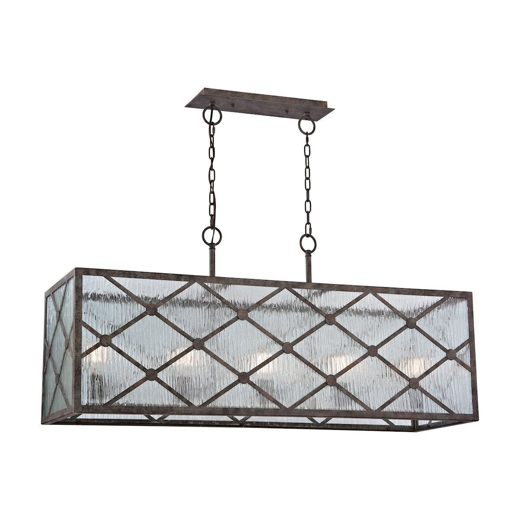 Radley 5 Light Chandelier In Malted Rust Ceiling Elk Lighting