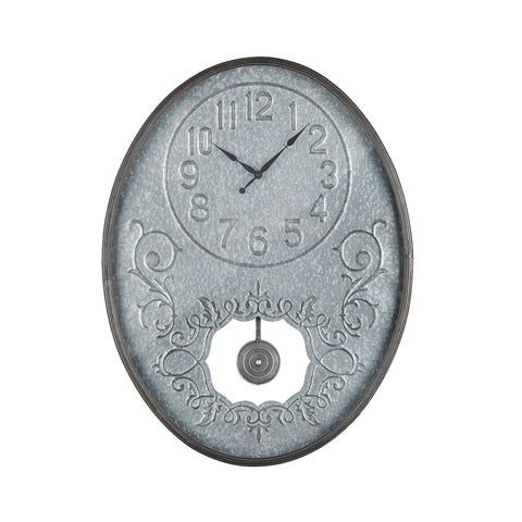 Jane Wall Clock in Galvanized Steel and Bronze