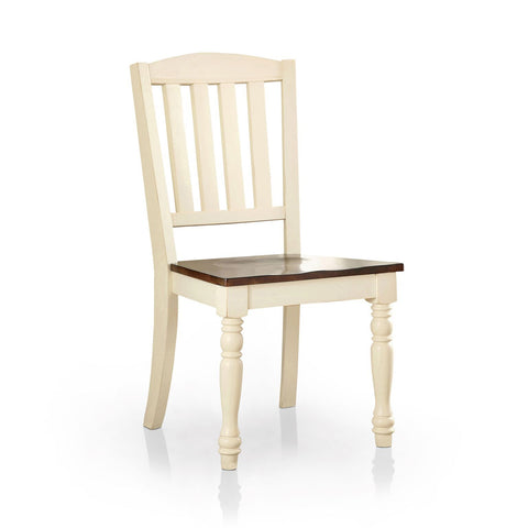 Fedar Cottage Two-Tone Dining Chair Vintage White & Dark Oak