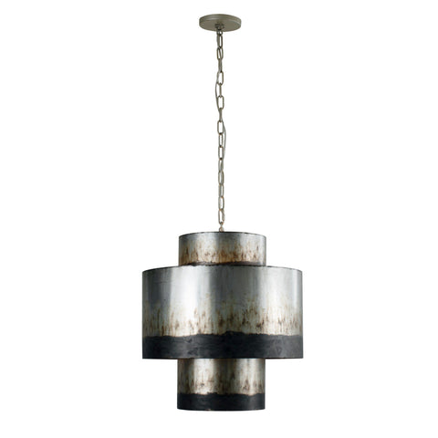 Cannery 4-Lt Tall Pendant - Ombre Galvanized Ceiling Varaluz