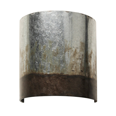 Cannery 1-lt Sconce - Ombre Galvanized Wall Varaluz