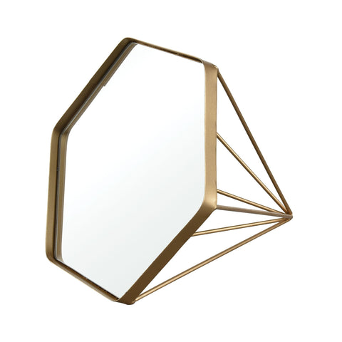Madsion Table-top Mirror in Gold Wall Art ELK Home