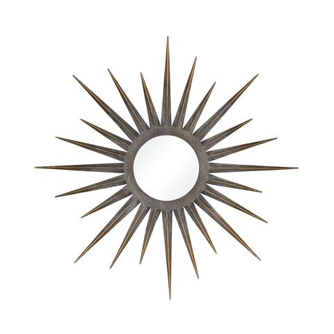 Newtown Star Mirror in Antique Gold Wall Art ELK Home