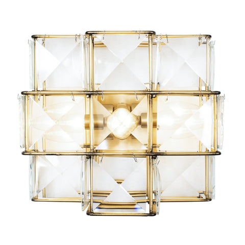 Cubic 3-Lt Sconce - Calypso Gold Wall Varaluz