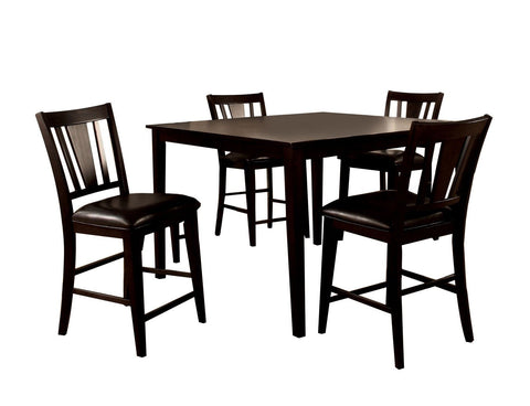 Desha 5-Piece Counter Height Dining Set Espresso Furniture Enitial Lab