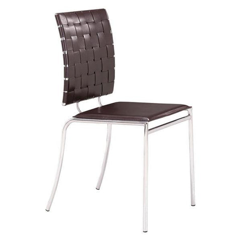 Zuo Criss Cross Dining Chair Espresso