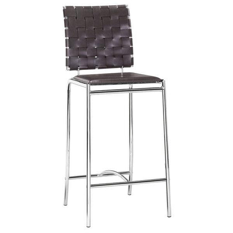 Criss Cross Counter Chair Espresso (Set of 2)