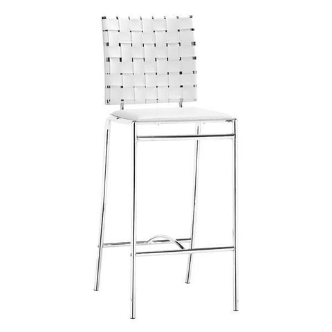 Criss Cross Counter Chair White (Set of 2) Furniture Zuo