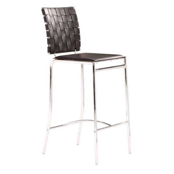 Criss Cross Counter Chair Black (Set of 2) Furniture Zuo