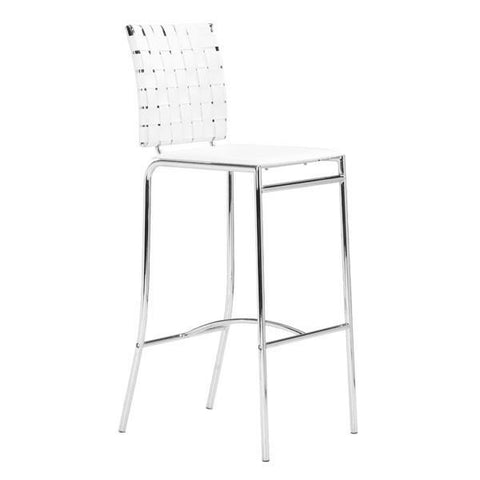 Criss Cross Barstool White (Set of 2) Furniture Zuo