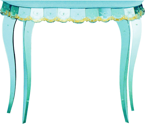Arte di Murano Mirrored Console Table 81x35x100 CM