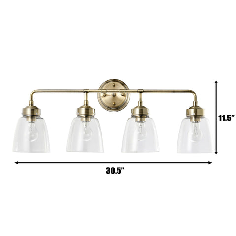 Helena 4-Lt Bath - Antique Brass