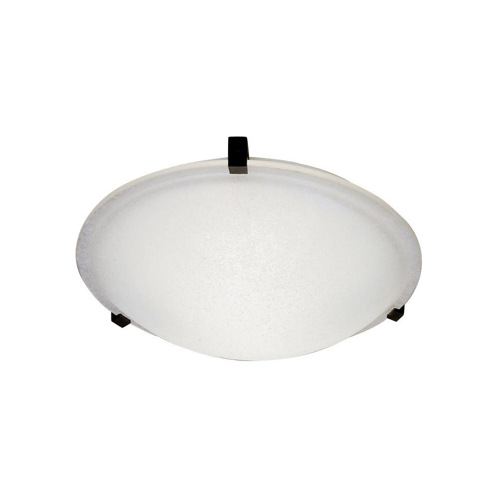 "Nuova 16""w Frosted Glass Ceiling Light - Rust Ceiling PLC Lighting"