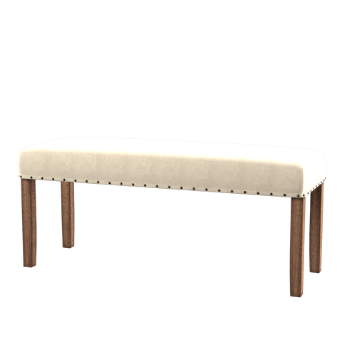 Fera Dining Bench Ivory Linen Furniture Enitial Lab