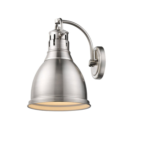 Duncan 1 Light Wall Sconce in Pewter with a Pewter Shade