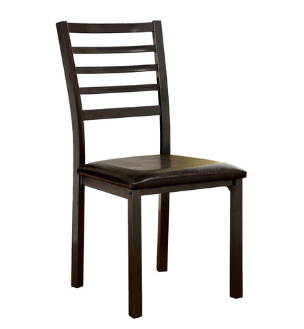 Jilen Leatherette Dining Chair Black (Set of 2)