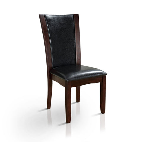 Selena Flared Leatherette Dining Chair Dark Cherry (Set of 2)