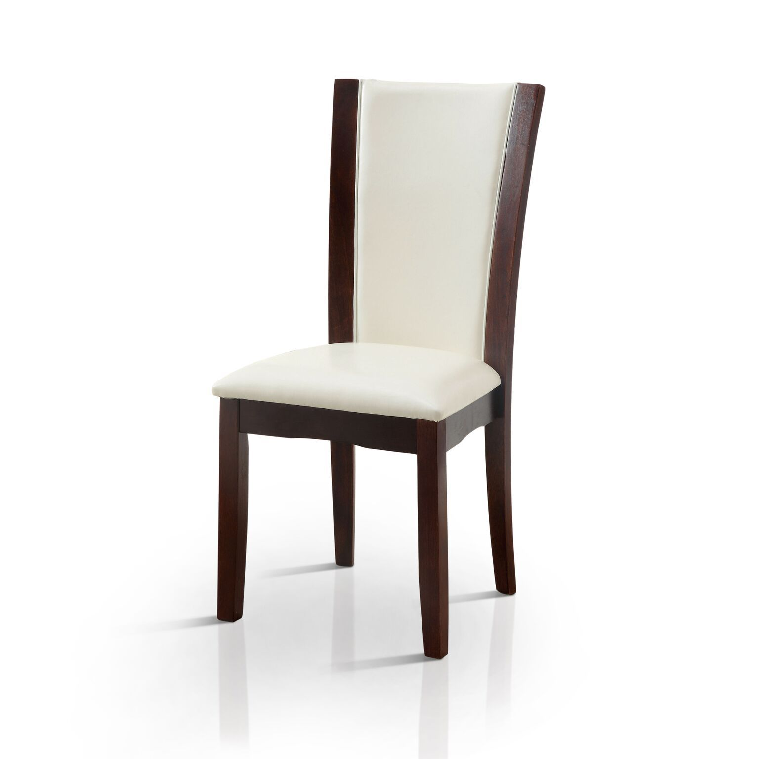Selena Flared Leatherette Dining Chair White (Set of 2) Furniture Enitial Lab