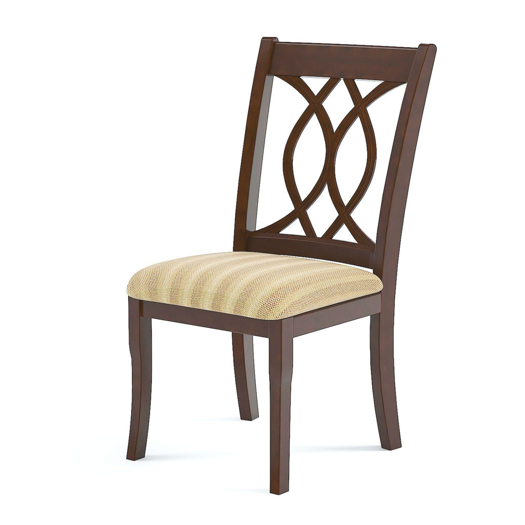 Poler Upholstered Dining Chair Brown Cherry (Set of 2) Furniture Enitial Lab