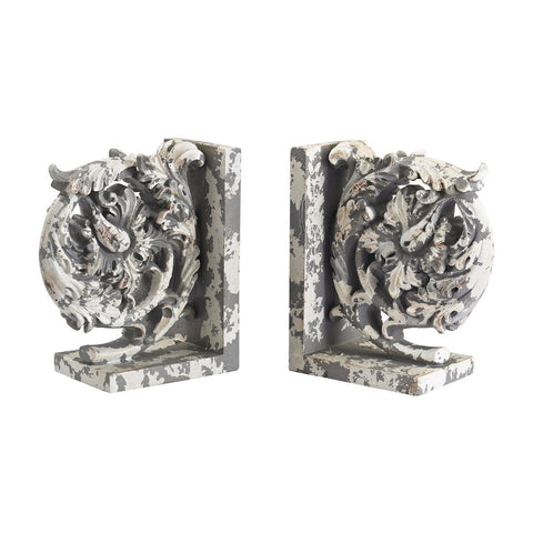 Aged Plaster Scroll Bookends ACCESSORIES Sterling